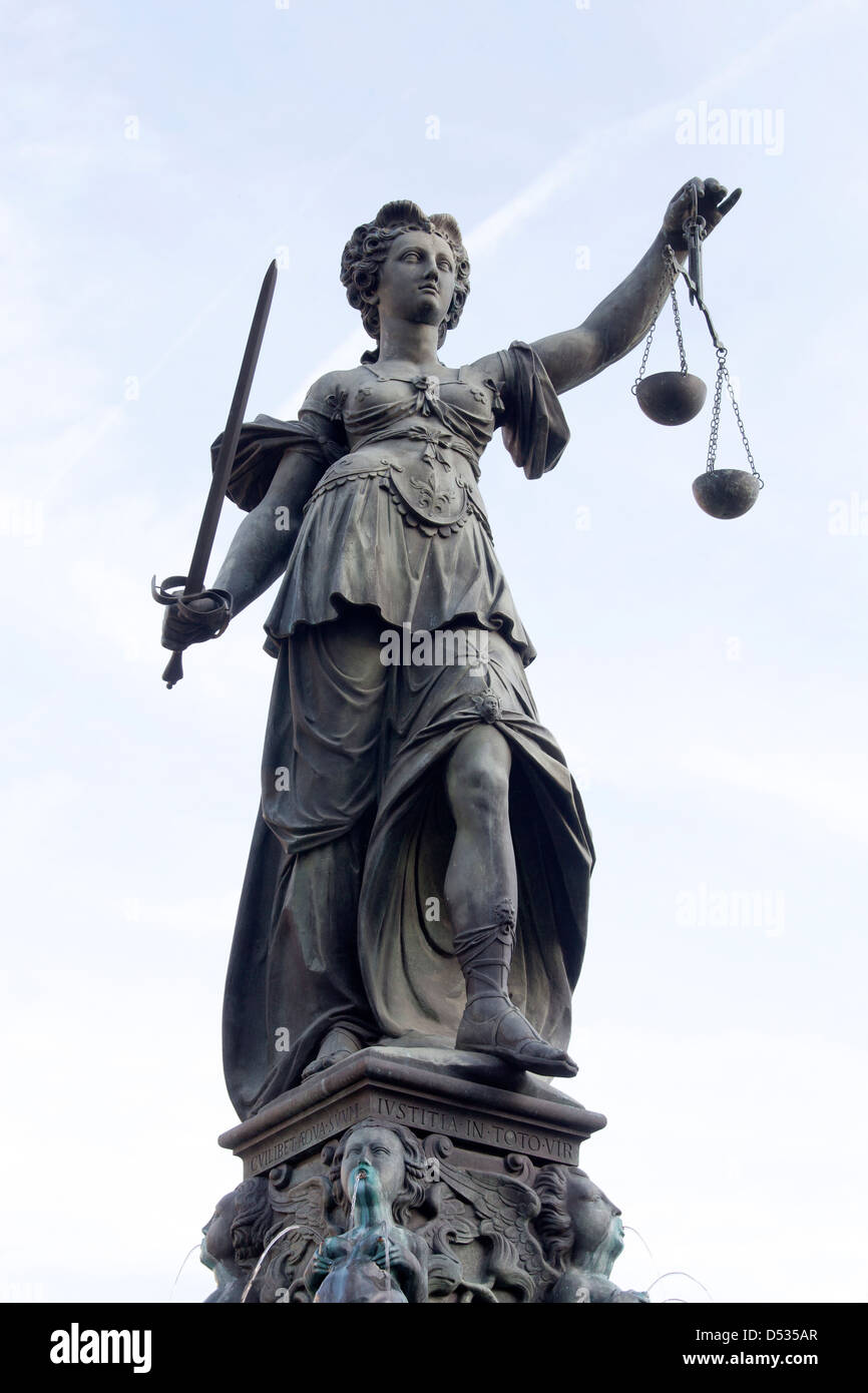 Frankfurt am Main, Germany, Justitia - Stock Image