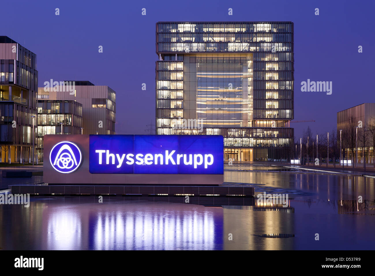 essen germany thyssenkrupp headquarters stock photo 54776381 alamy. Black Bedroom Furniture Sets. Home Design Ideas