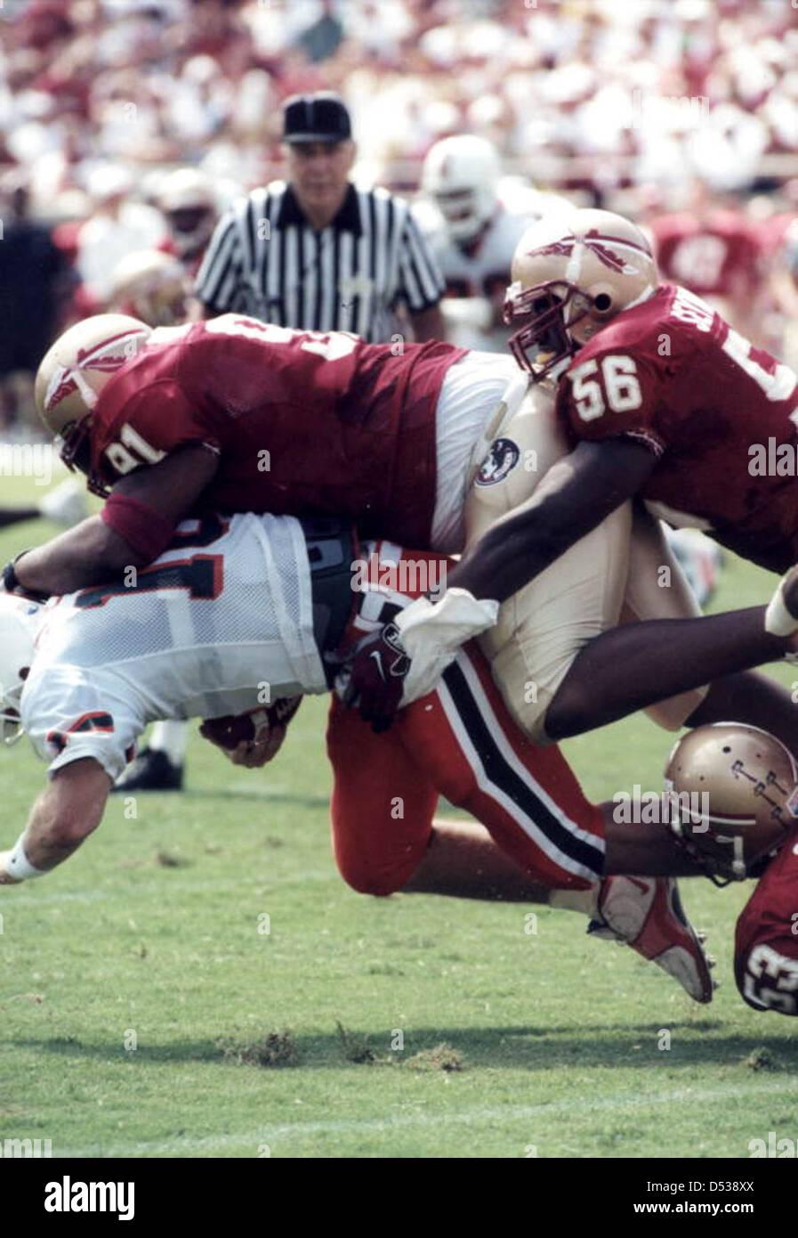 Florida State University versus the University of Miami at Doak Campbell Stadium: Tallahassee, Florida - Stock Image