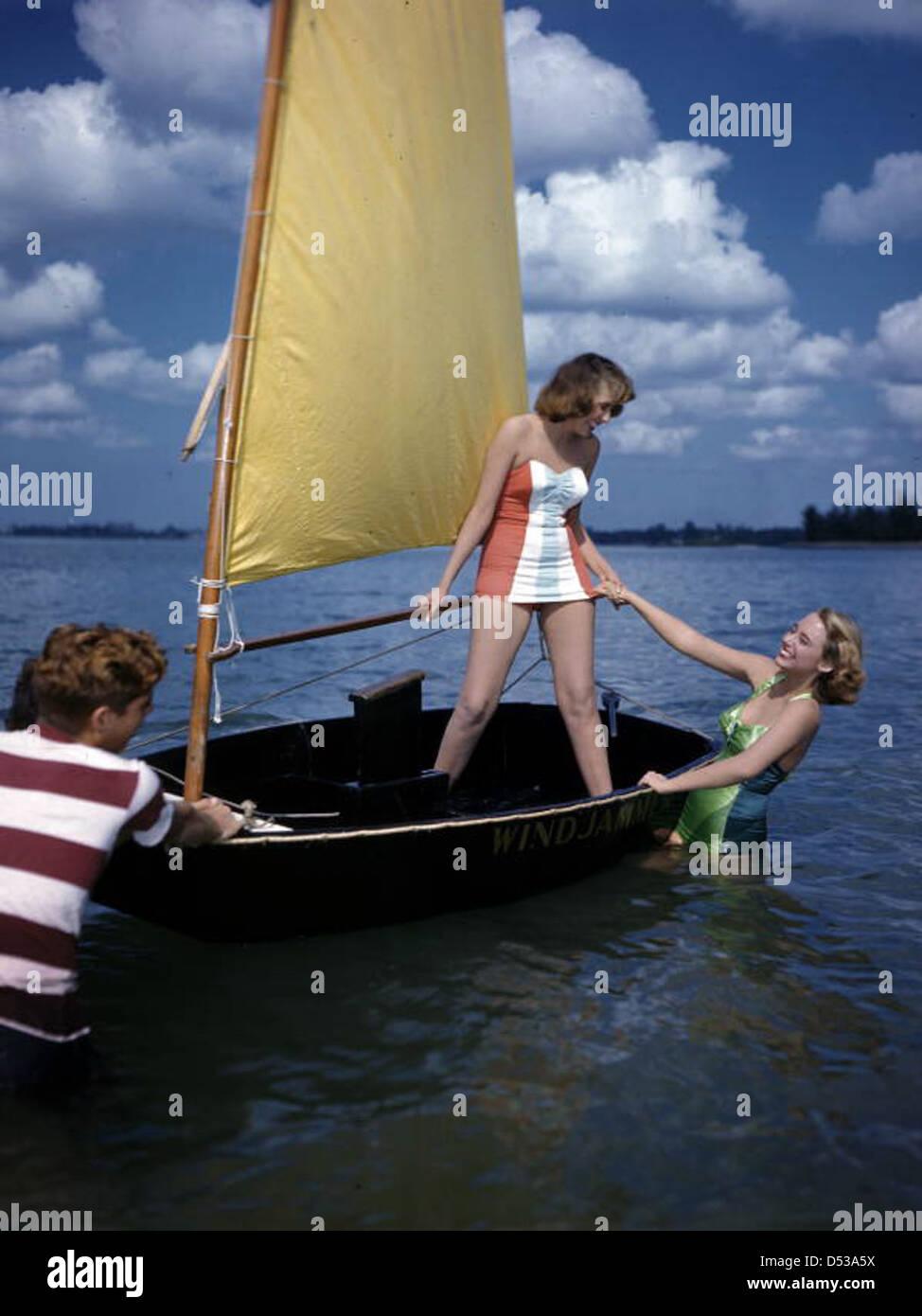 Nora Carrol and Lois Duncan Steinmetz: Sarasota, Florida - Stock Image