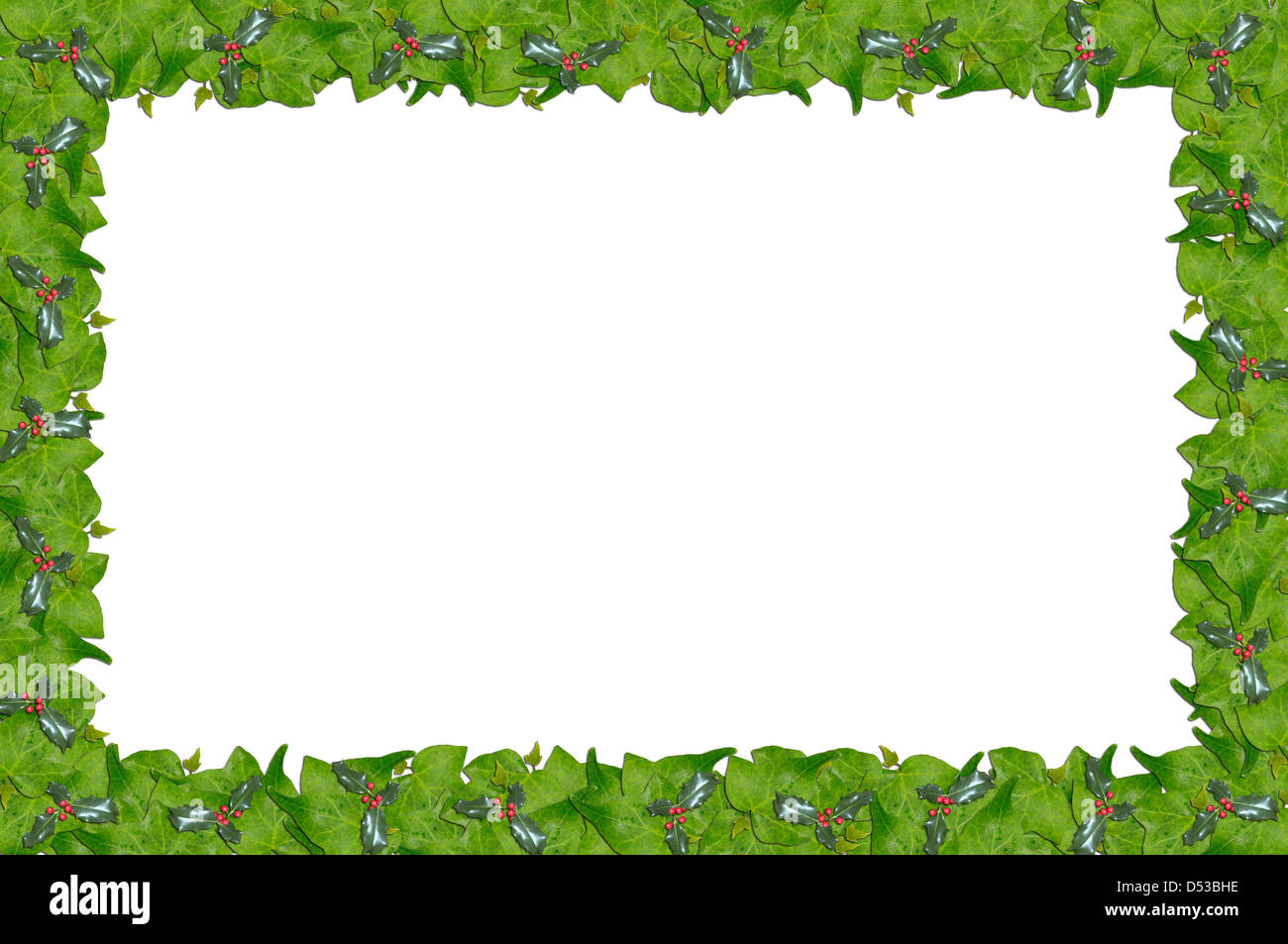 Christmas Page Border.Christmas Holly And Ivy Page Border Stock Photo 54779354
