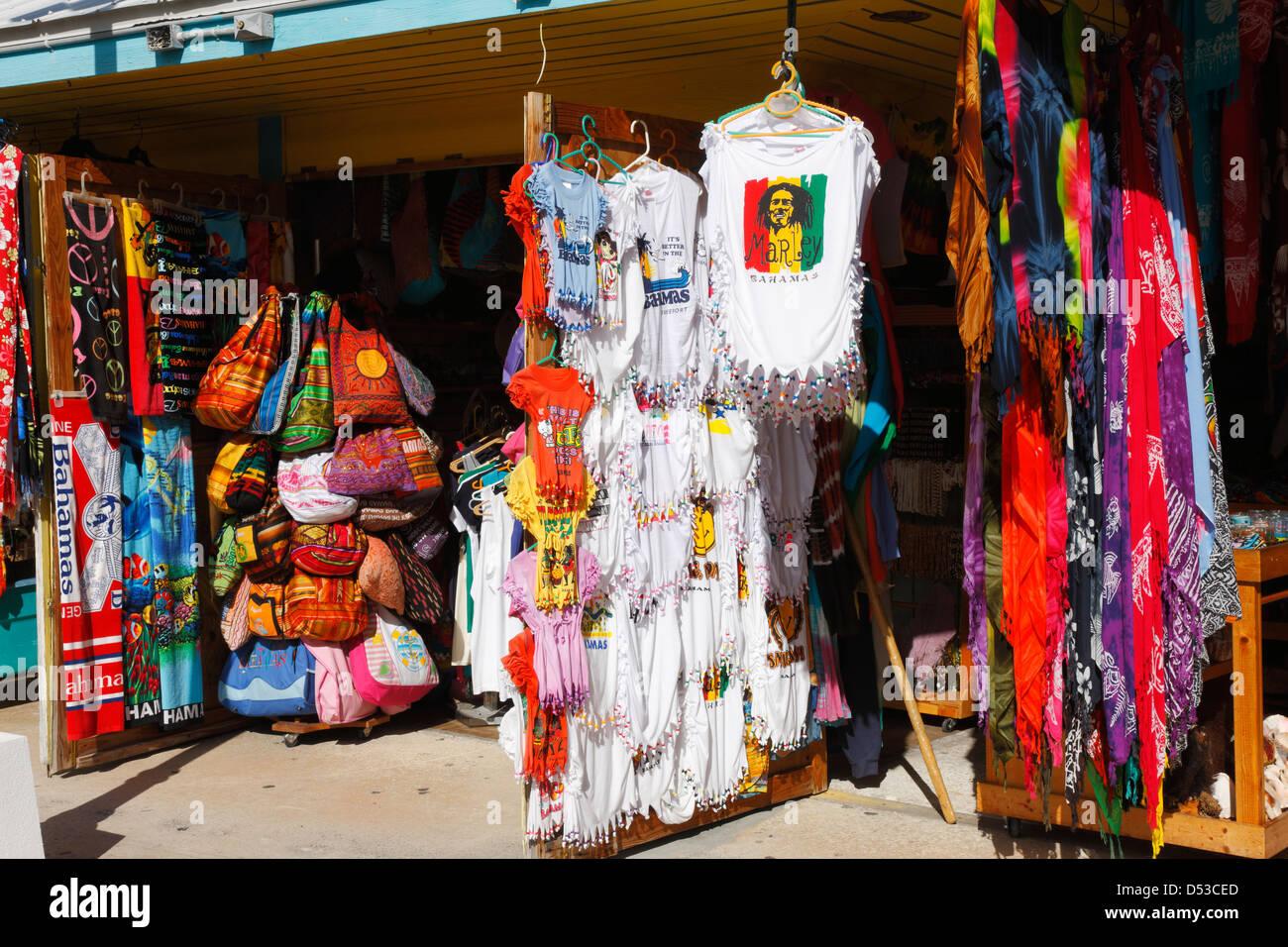 Straw market. Freeport - Bahamas - Stock Image