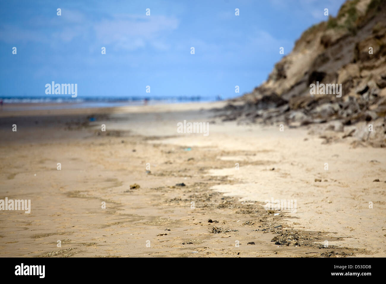 Formby Beach, Liverpoool, United Kingdom - Stock Image