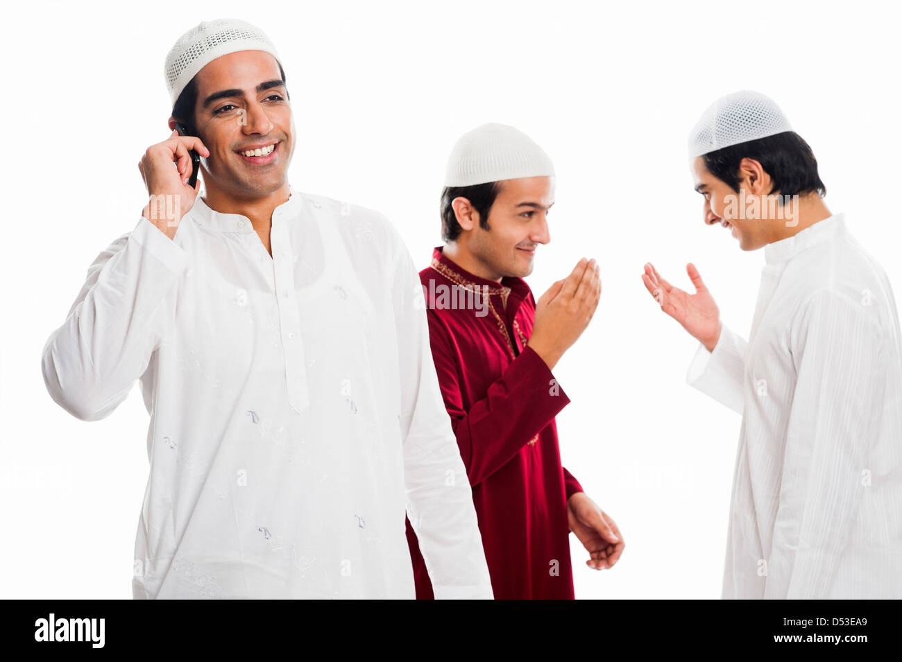 Indian Muslim Man Greeting Stock Photos Indian Muslim Man Greeting