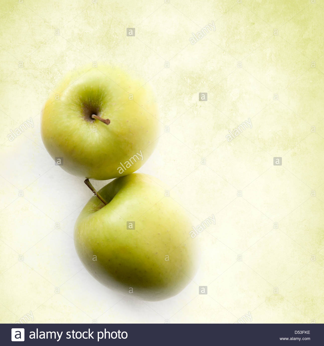 Green apples with copy space - Stock Image