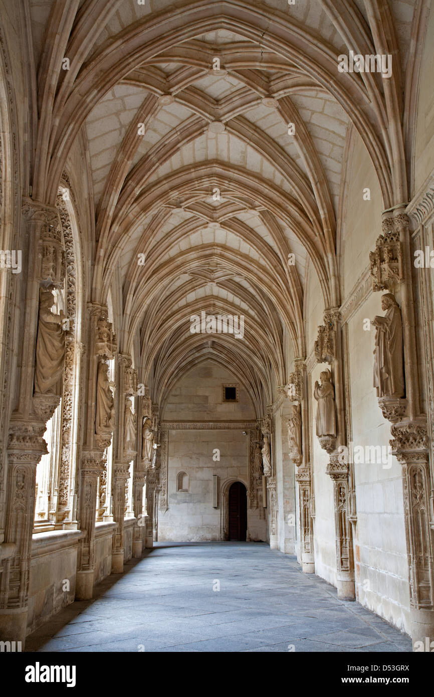 TOLEDO - MARCH 8: Gothic atrium of Monasterio San Juan de los Reyes or Monastery of Saint John of the Kings - Stock Image