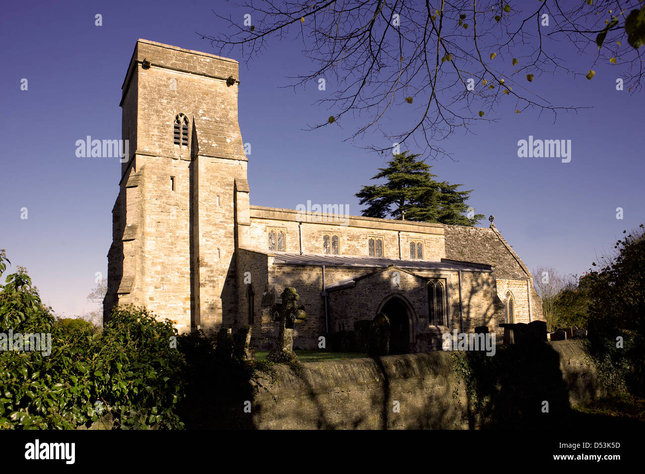 St. Mary's Church Lower Heyford Oxfordshire Oxon England UK GB rural England English Great Britain British countryside - Stock Image