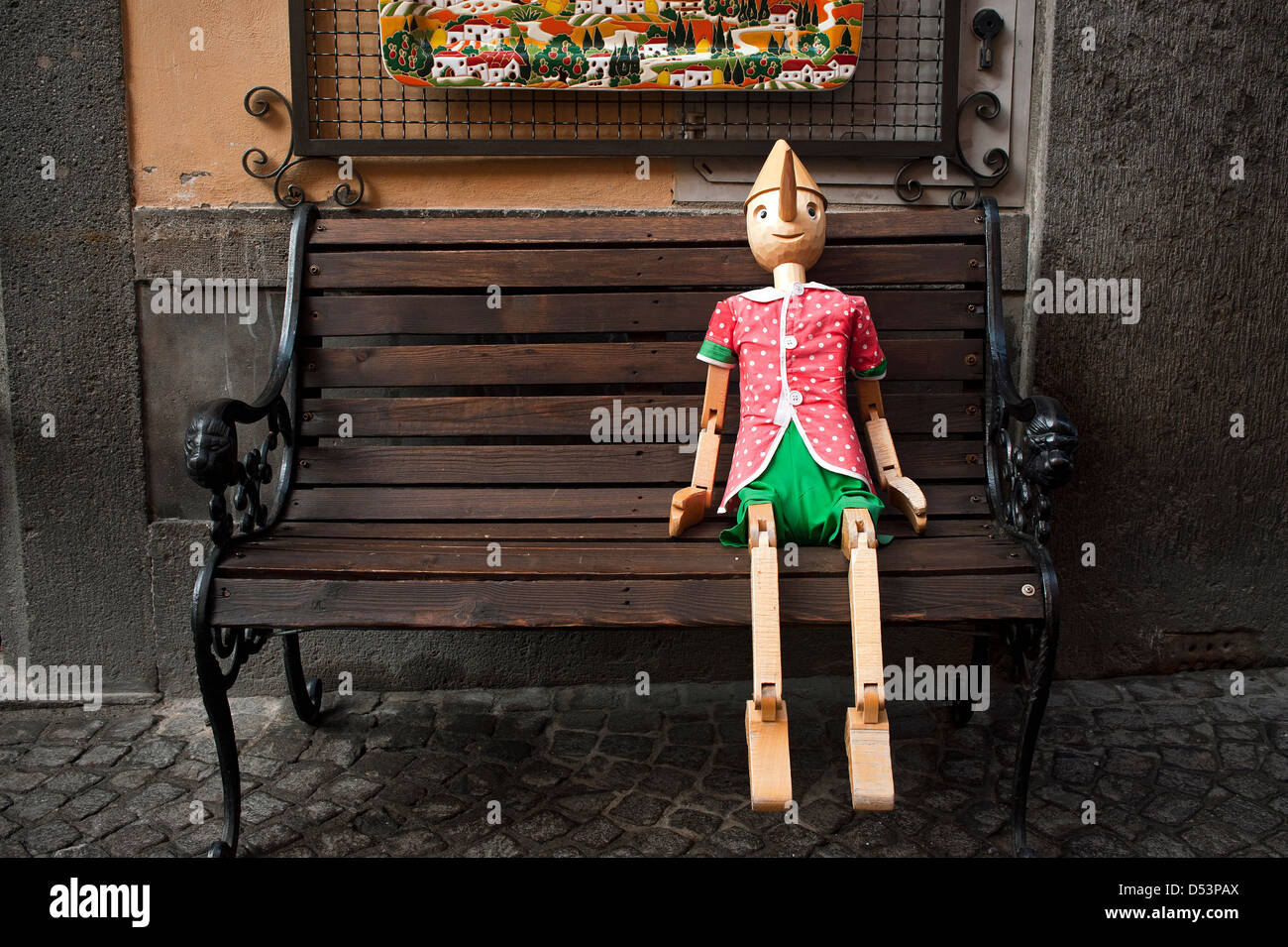 Enjoyable Pinocchio Sitting On A Wooden Bench Orvieto Umbria Italy Ocoug Best Dining Table And Chair Ideas Images Ocougorg