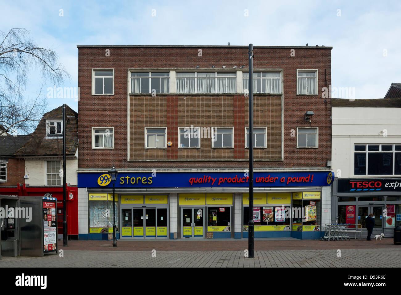 A 99p discount store, High Street, Ashford, Kent - Stock Image