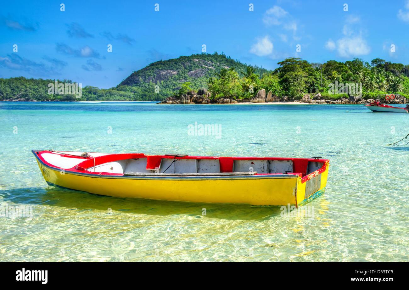 Port Launay beach, Mahe island, Seychelles - Stock Image