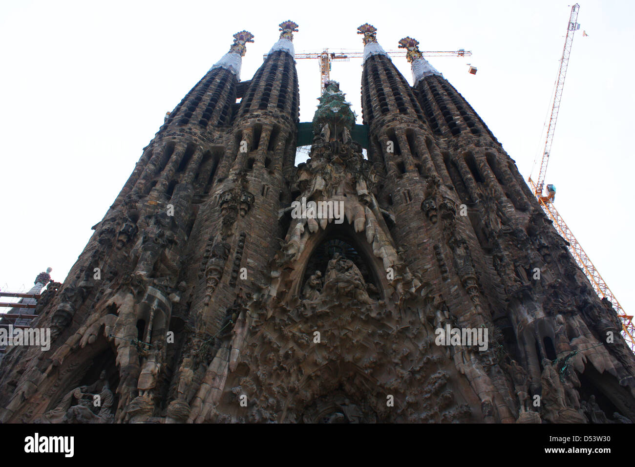 Sagrada Familia Roman Catholic church in Barcelona, Spain Stock Photo