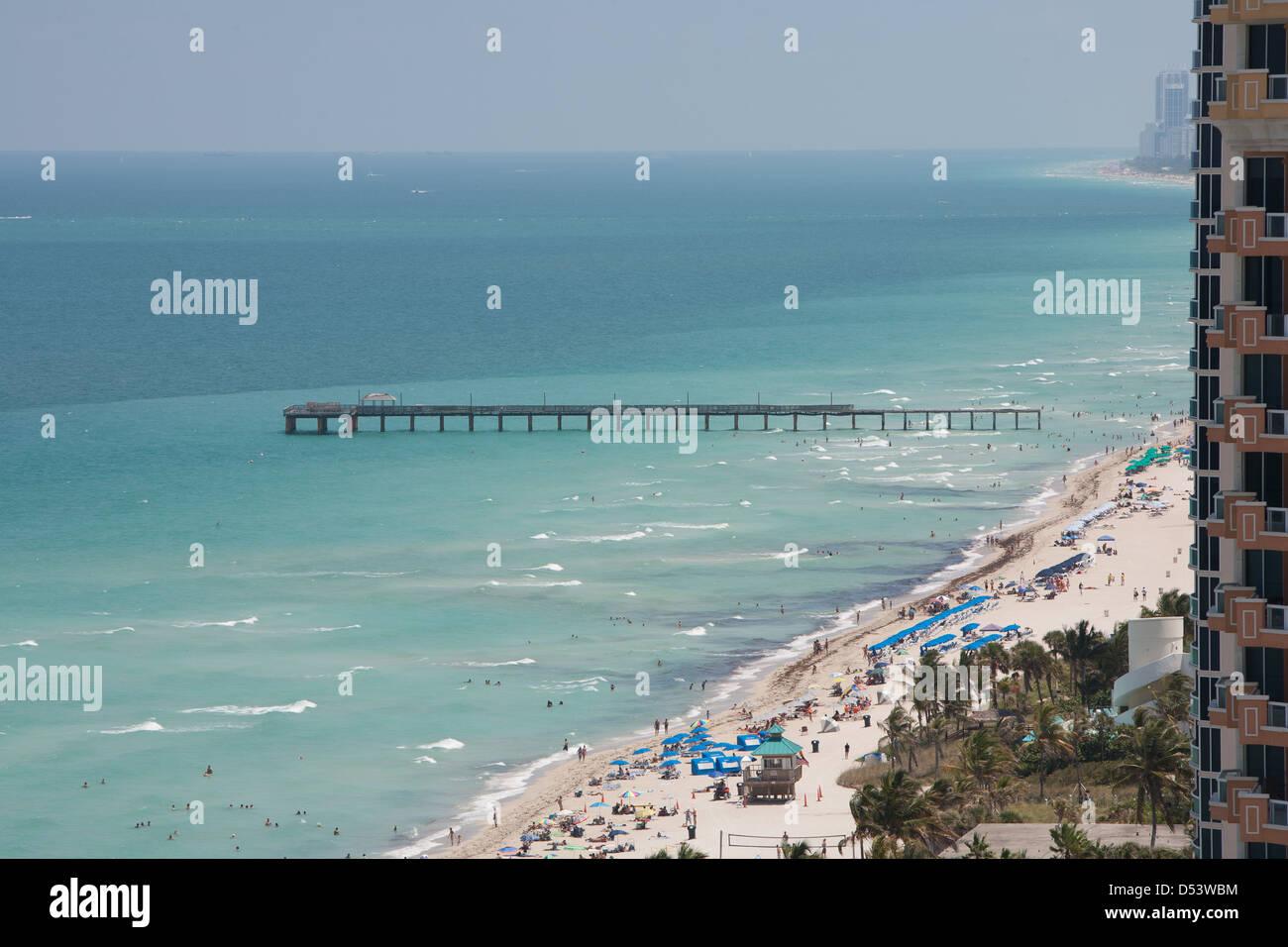 Sunny Isle beach  Florida - Stock Image