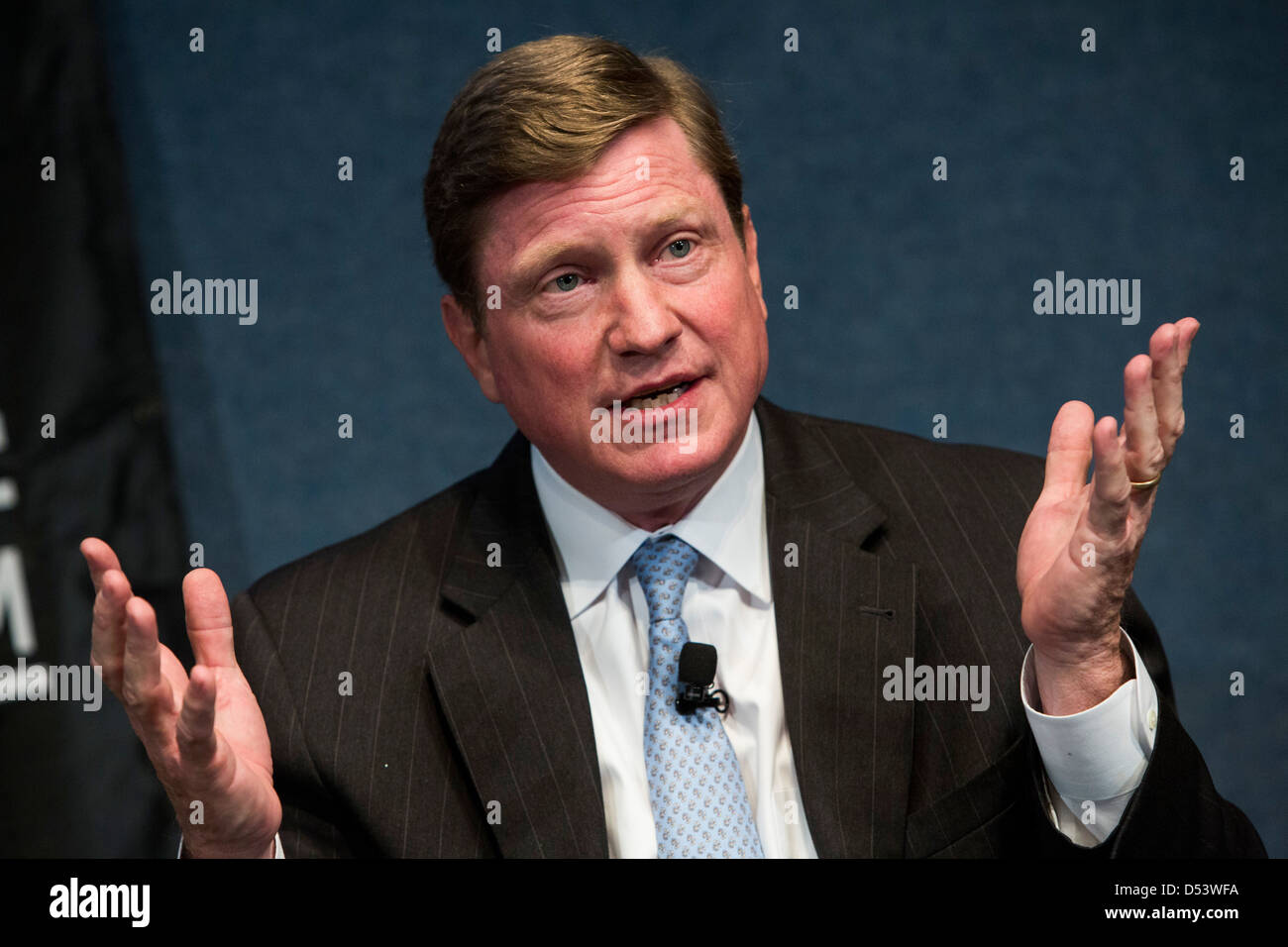 Thomas Fanning, chairman, president and CEO of Southern Company. - Stock Image
