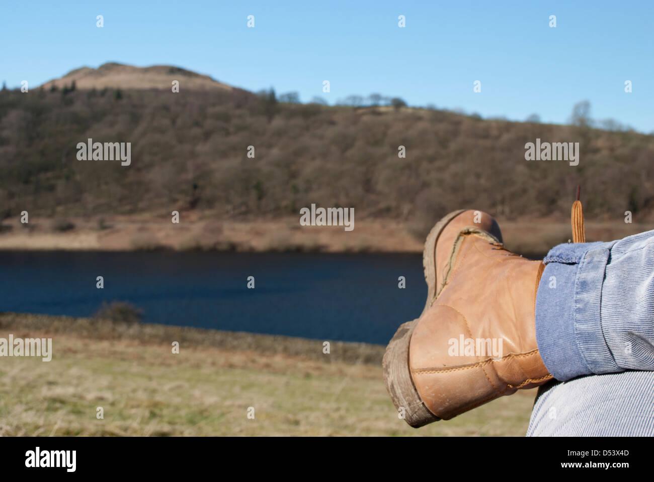 Countrside Walking ladies View - Stock Image