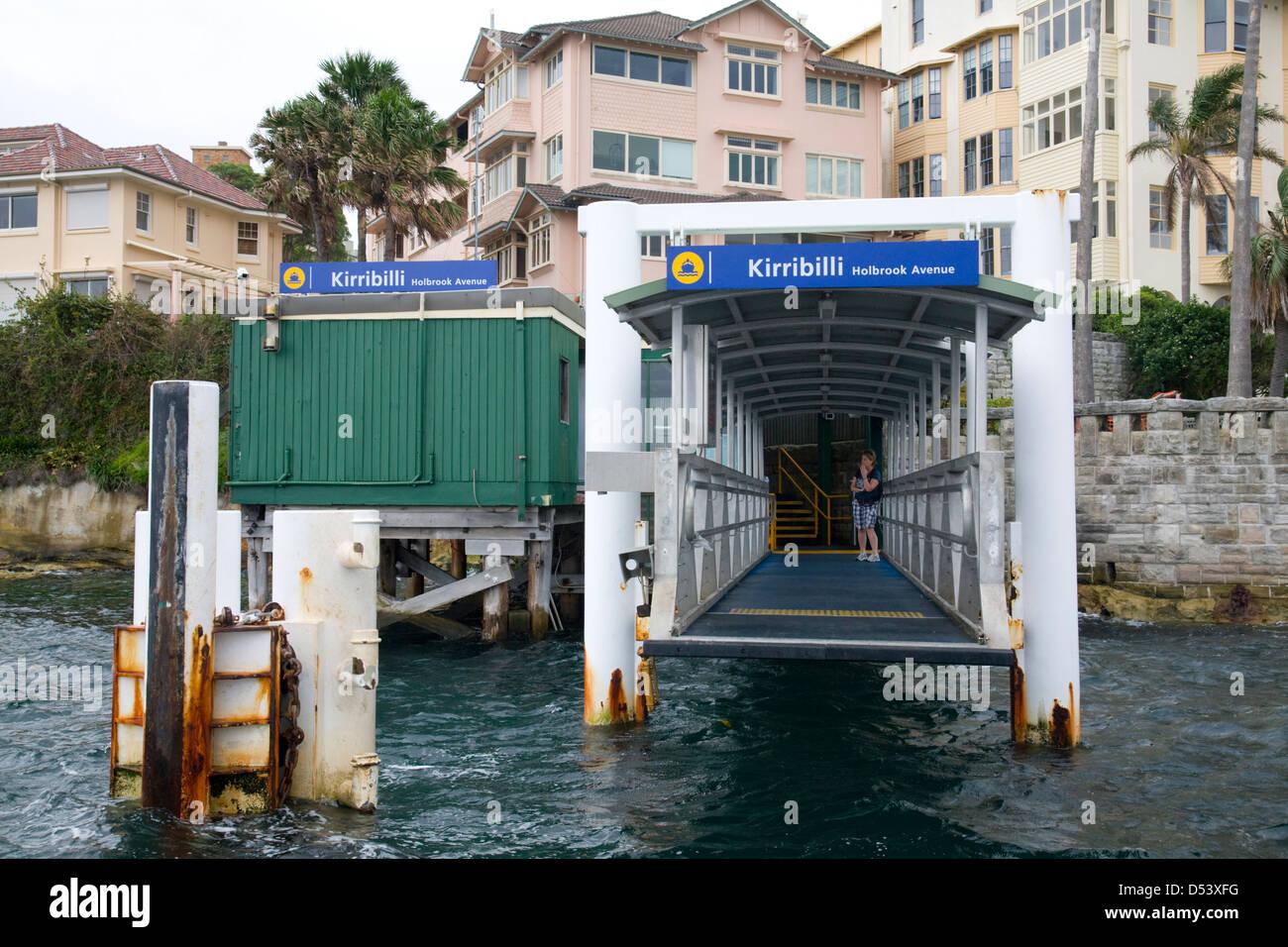 Kirribilli ferry wharf on Sydney harbour, new south wales,australia - Stock Image