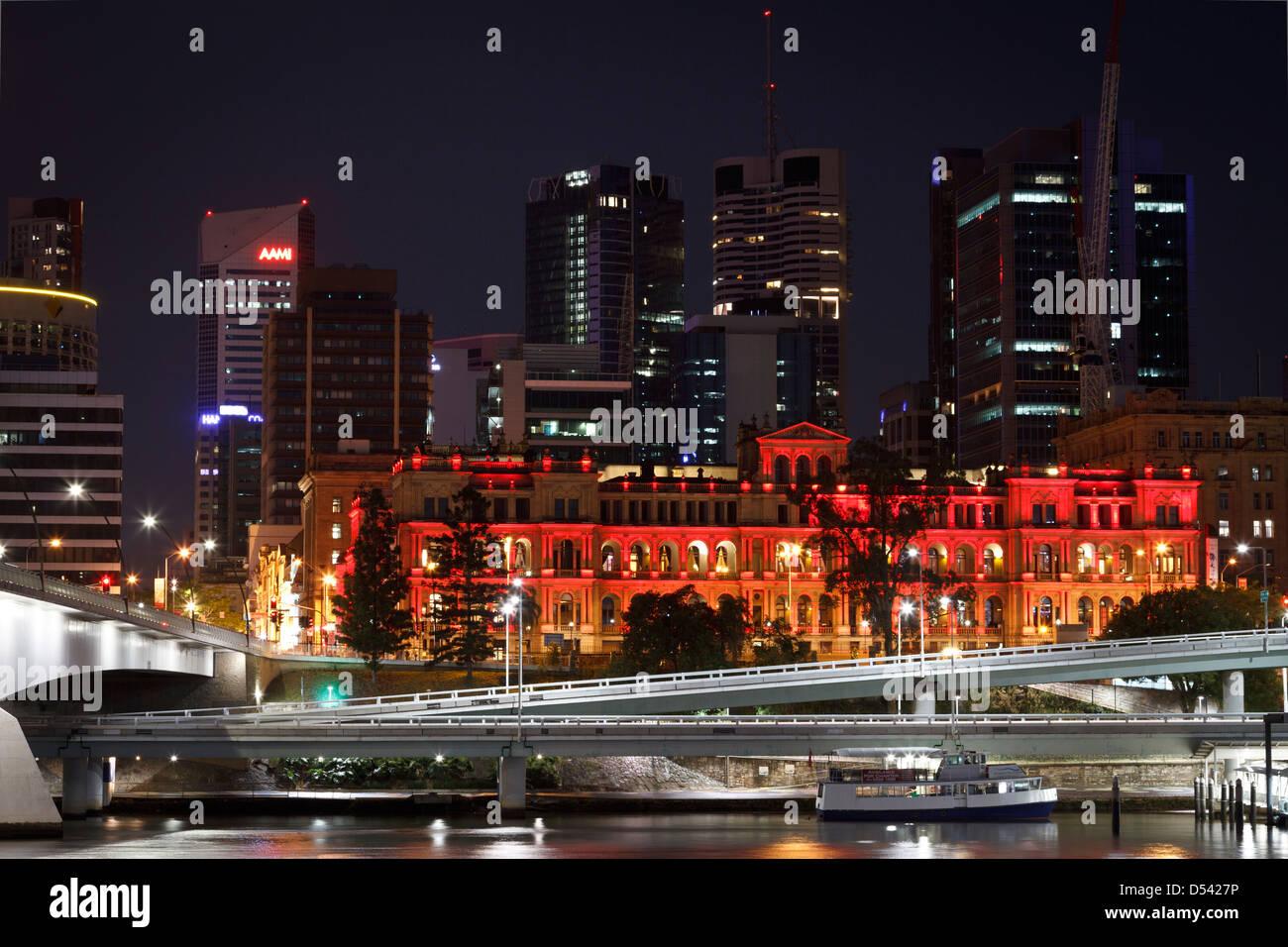 Brisbane at dusk - Stock Image