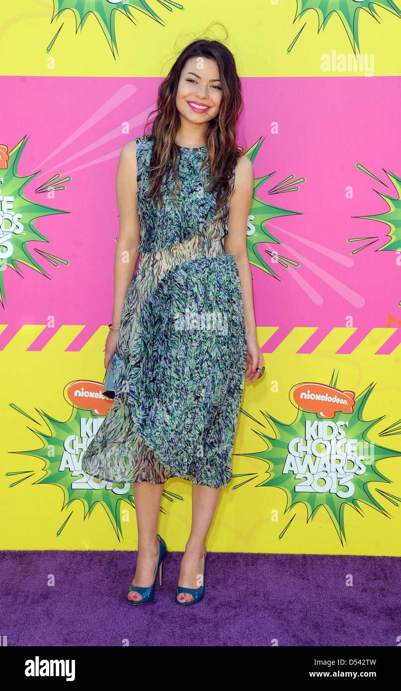 Los Angeles, USA. 23rd March 2013. US actress Miranda Cosgrove arrives at Nickelodeon's 26th Annual Kids' - Stock Image