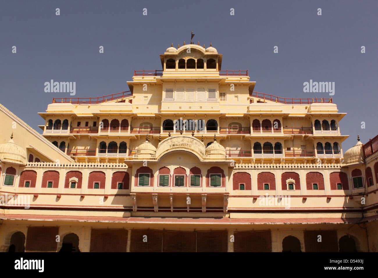 Chandra Mahal City Palace complex Jaipur  Rajasthan state, India - Stock Image