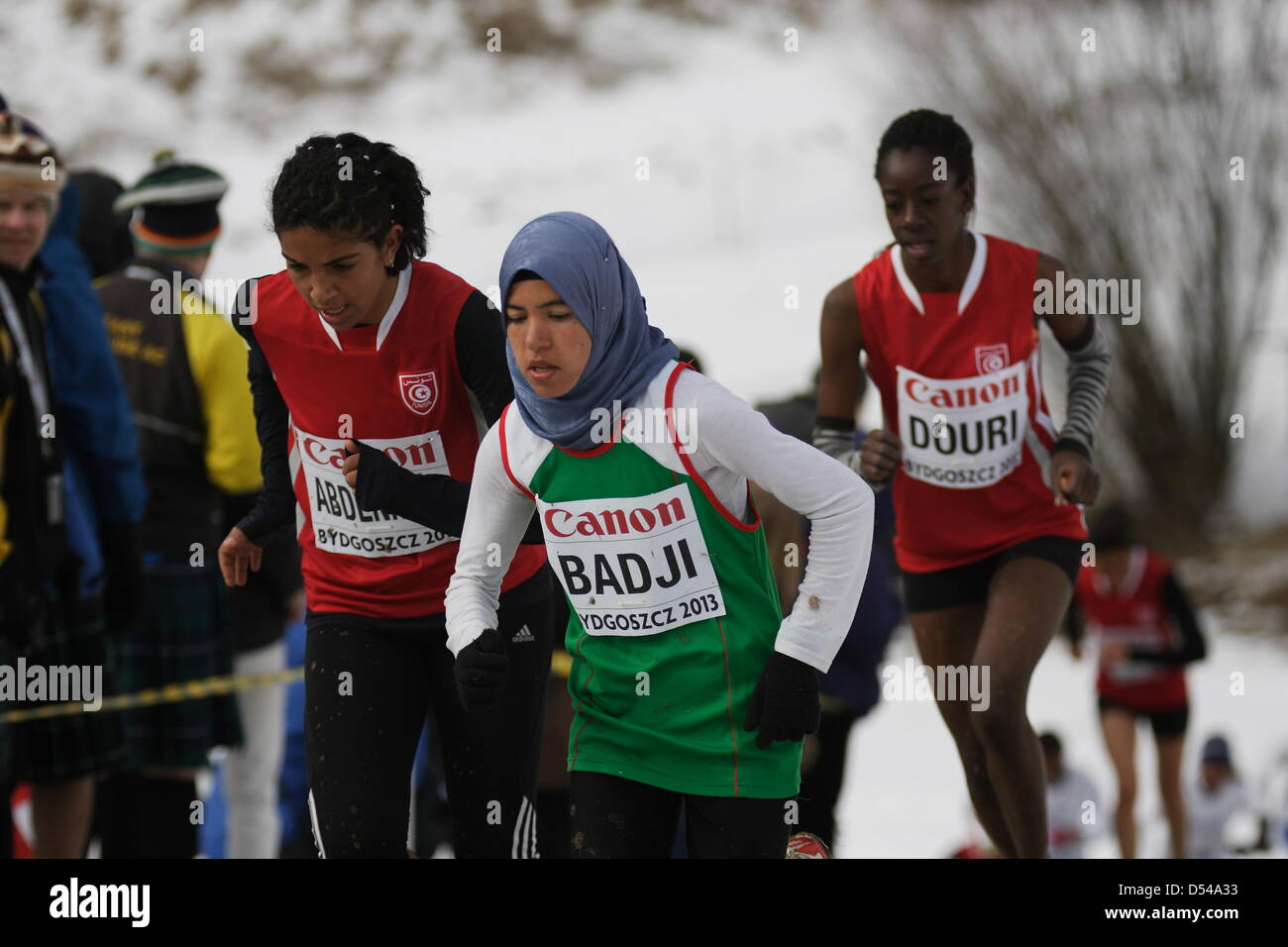 Bydgoszcz, Poland 24th, March 2013 IAAF World Cross Country Chamiponships. Junior Race Woman. Pictured: Laila Badji - Stock Image