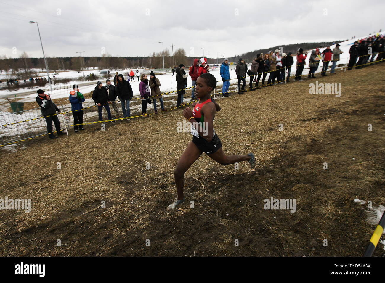 Bydgoszcz, Poland 24th, March 2013 IAAF World Cross Country Chamiponships. Junior Race Woman. - Stock Image