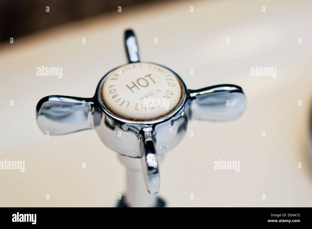 Lefroy Brooks La Chapelle hot tap fitting - Stock Image