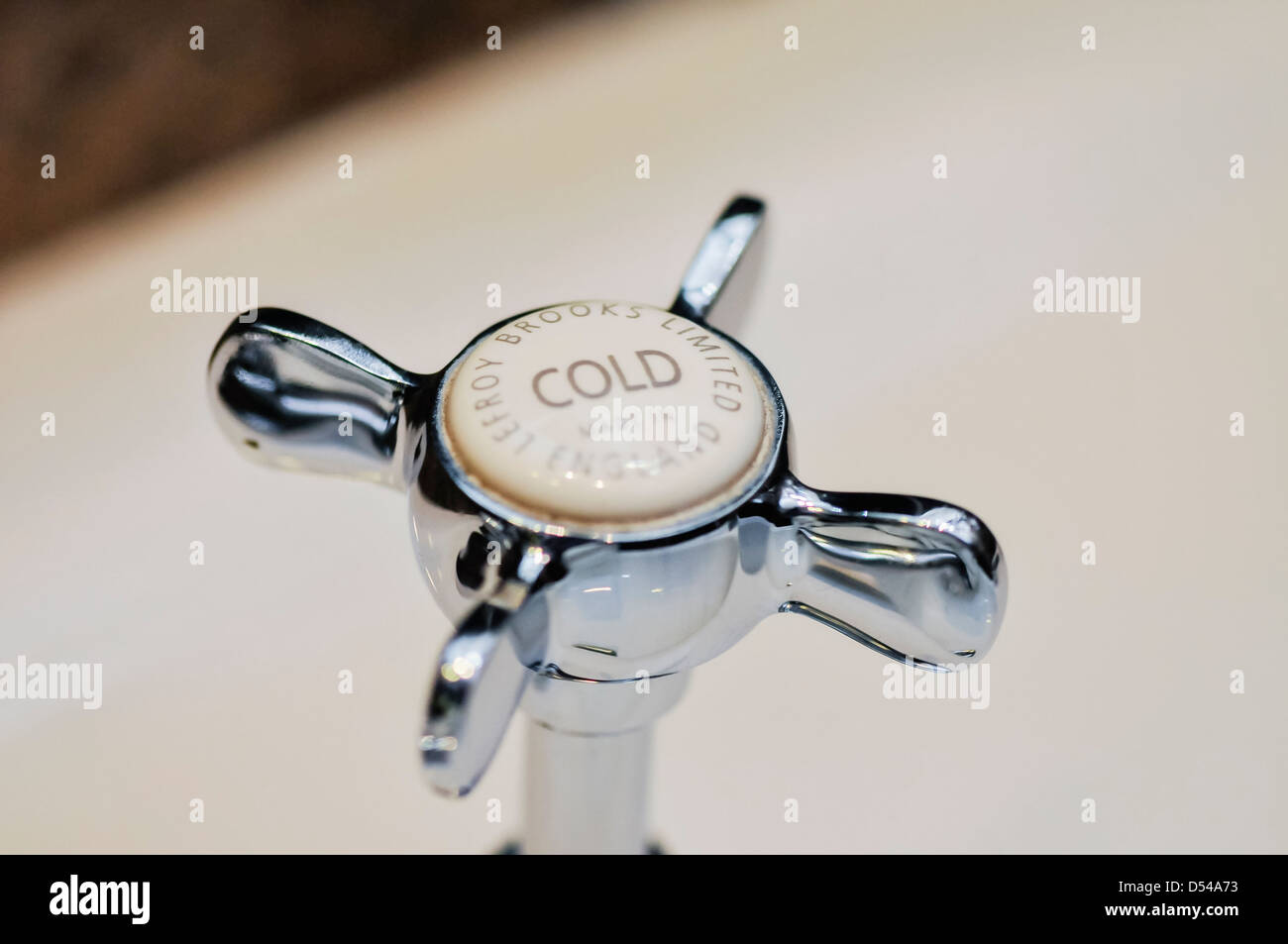 Lefroy Brooks La Chapelle cold tap fitting - Stock Image