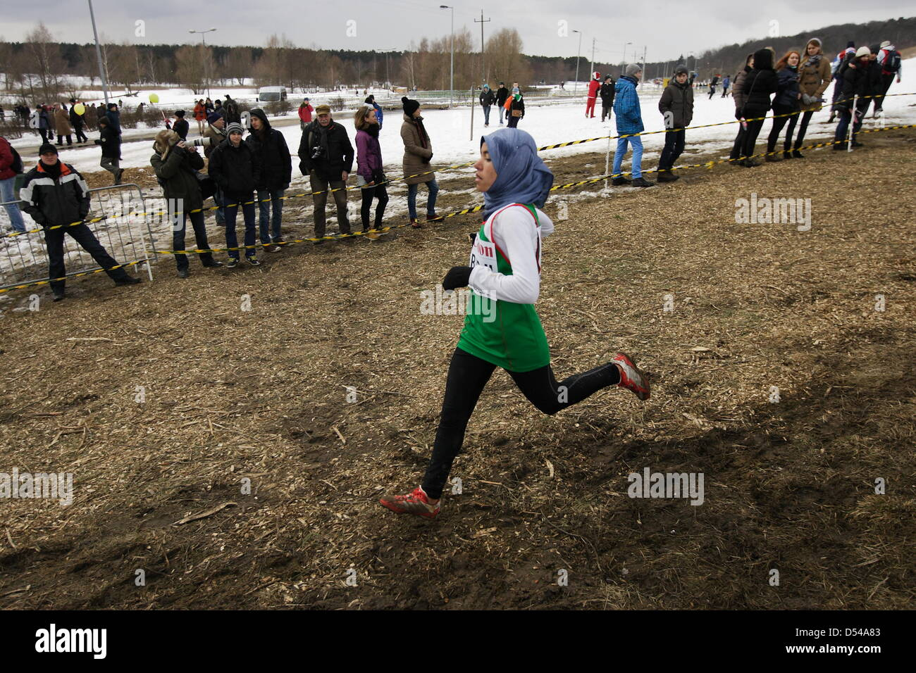 Bydgoszcz, Poland 24th, March 2013 IAAF World Cross Country Chamiponships. Junior Race Woman. Pictured: - Stock Image