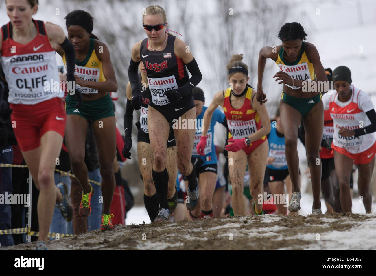Bydgoszcz, Poland 24th, March 2013 IAAF World Cross Country Chamiponships. Senior Race Woman.  Pictured: Neely Spence - Stock Image