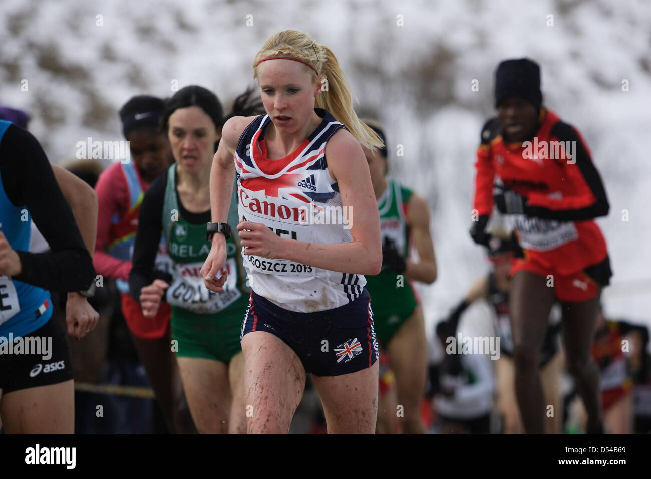 Bydgoszcz, Poland 24th, March 2013 IAAF World Cross Country Chamiponships. Senior Race Woman.  Pictured: Gemma Steel - Stock Image