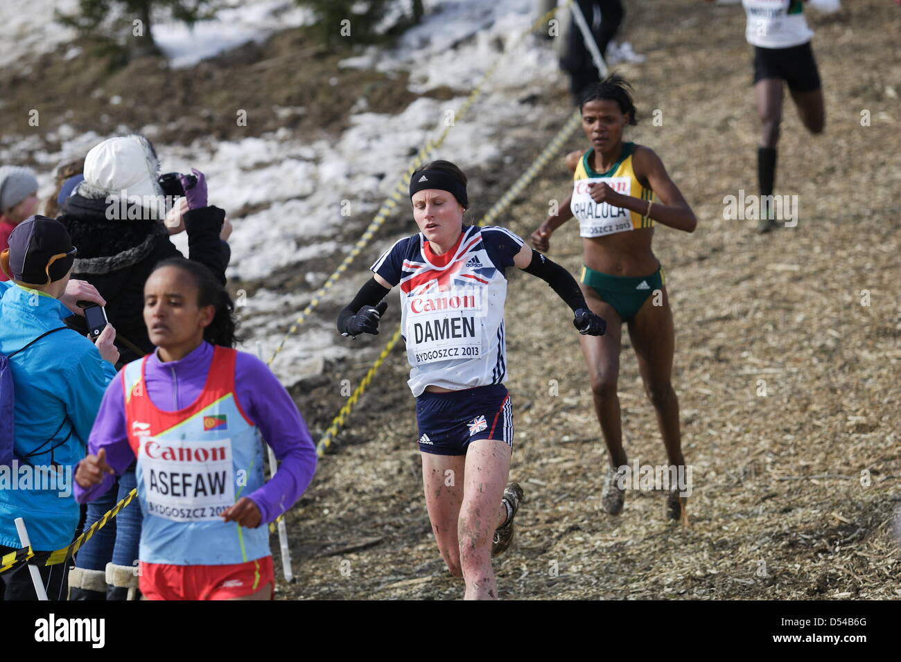 Bydgoszcz, Poland 24th, March 2013 IAAF World Cross Country Chamiponships. Senior Race Woman.  Pictured: Louise - Stock Image