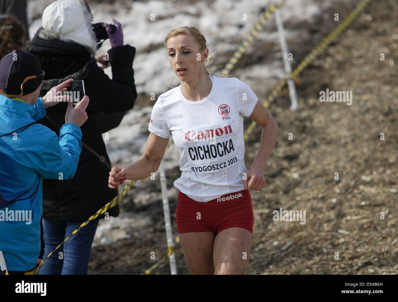 Bydgoszcz, Poland 24th, March 2013 IAAF World Cross Country Chamiponships. Senior Race Woman.  Pictured: Angelika - Stock Image