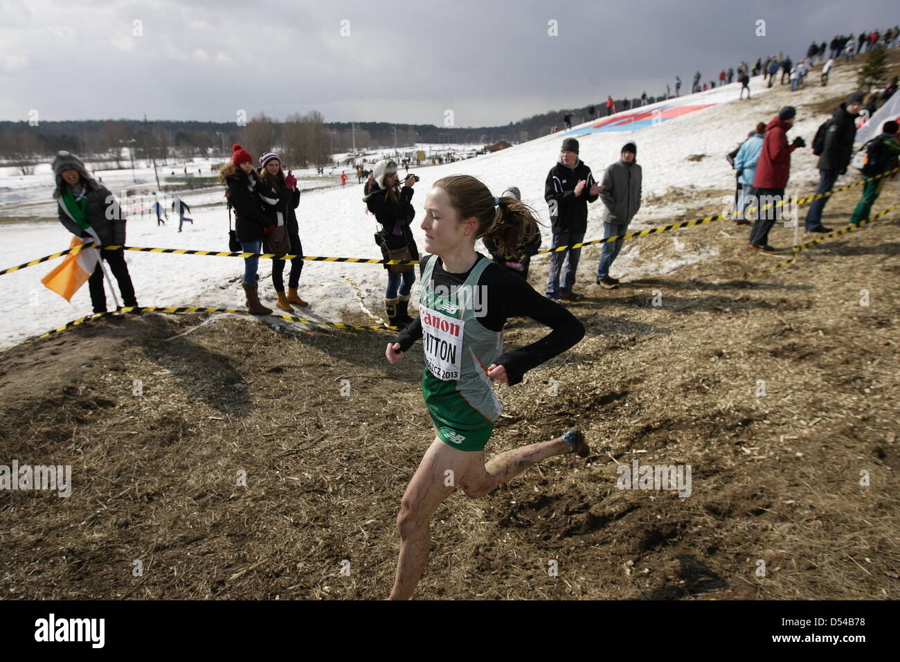 Bydgoszcz, Poland 24th, March 2013 IAAF World Cross Country Chamiponships. Senior Race Woman.  Pictured: Fionnuala - Stock Image