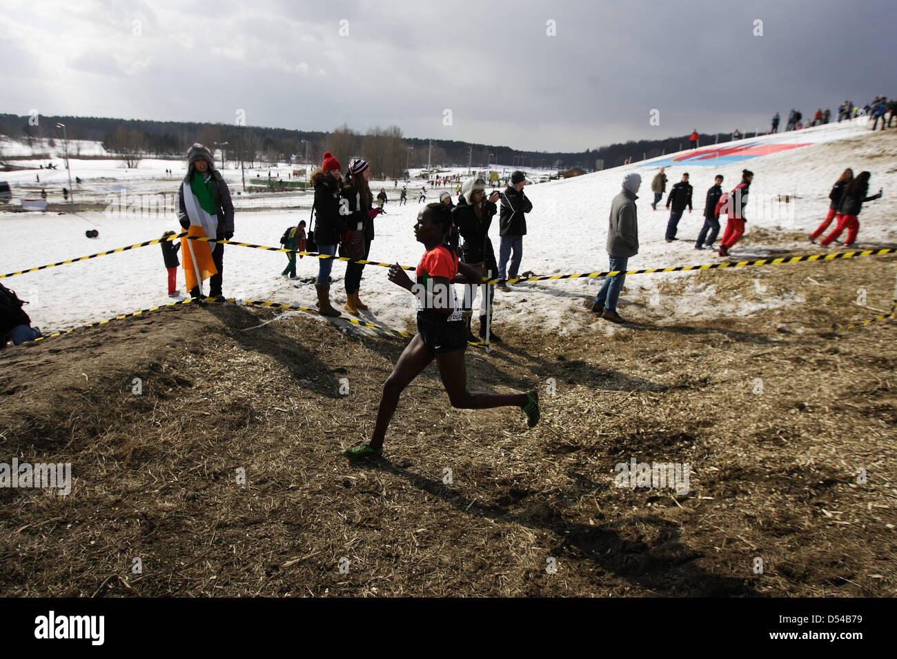 Bydgoszcz, Poland 24th, March 2013 IAAF World Cross Country Chamiponships. Senior Race Woman. - Stock Image