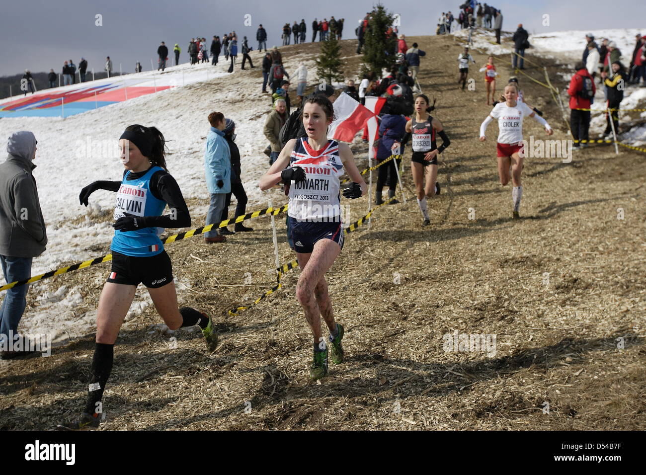 Bydgoszcz, Poland 24th, March 2013 IAAF World Cross Country Chamiponships. Senior Race Woman.  Pictured: Lauren - Stock Image
