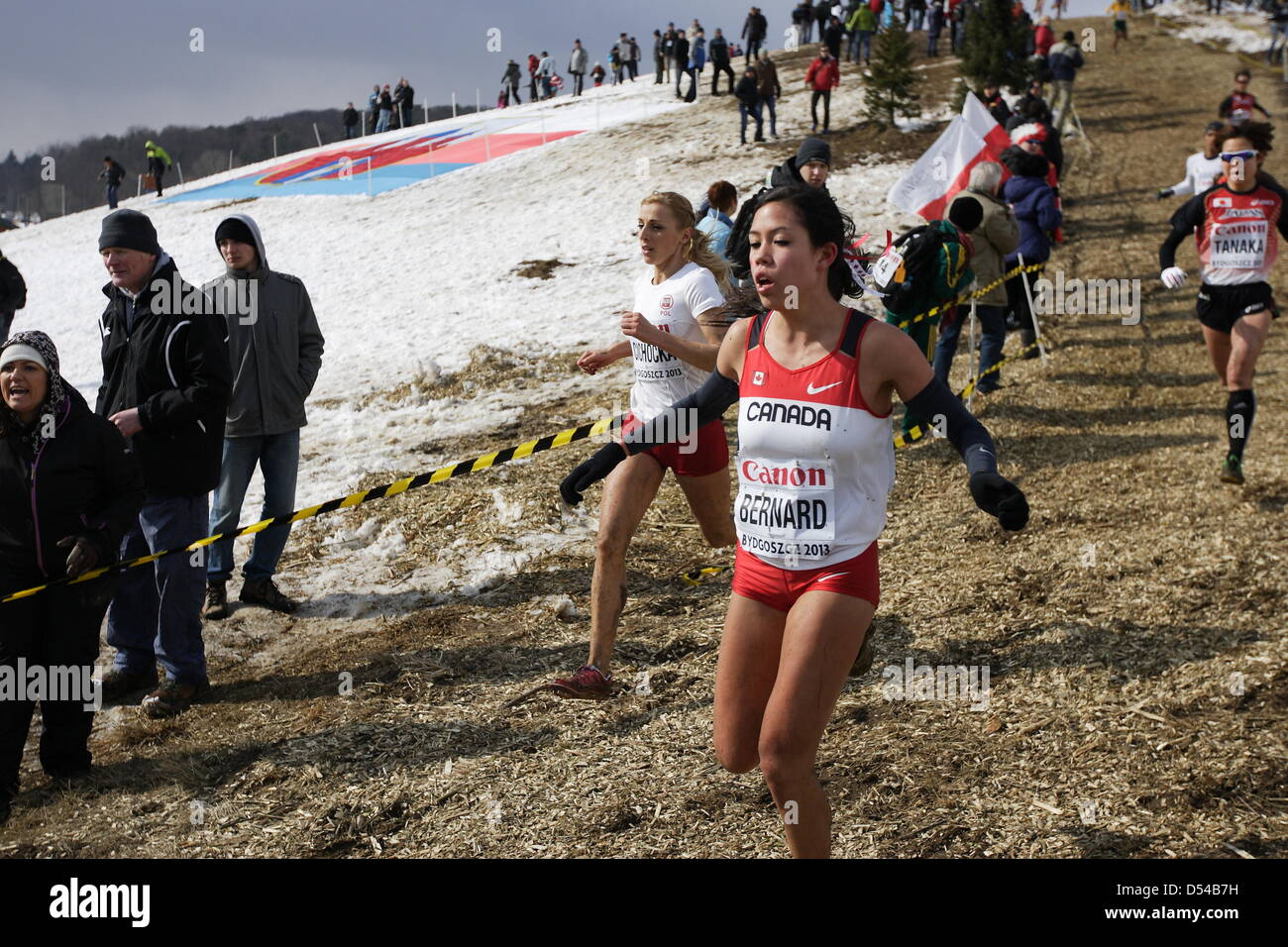 Bydgoszcz, Poland 24th, March 2013 IAAF World Cross Country Chamiponships. Senior Race Woman.  Pictured: Maria Bernard - Stock Image