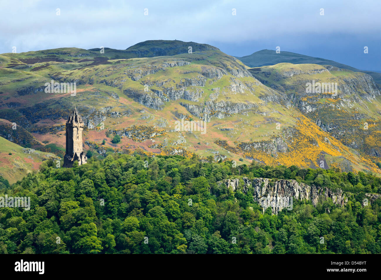 National Wallace Monument at Abbey Craig, Stirling, Scotland, United Kingdom - Stock Image
