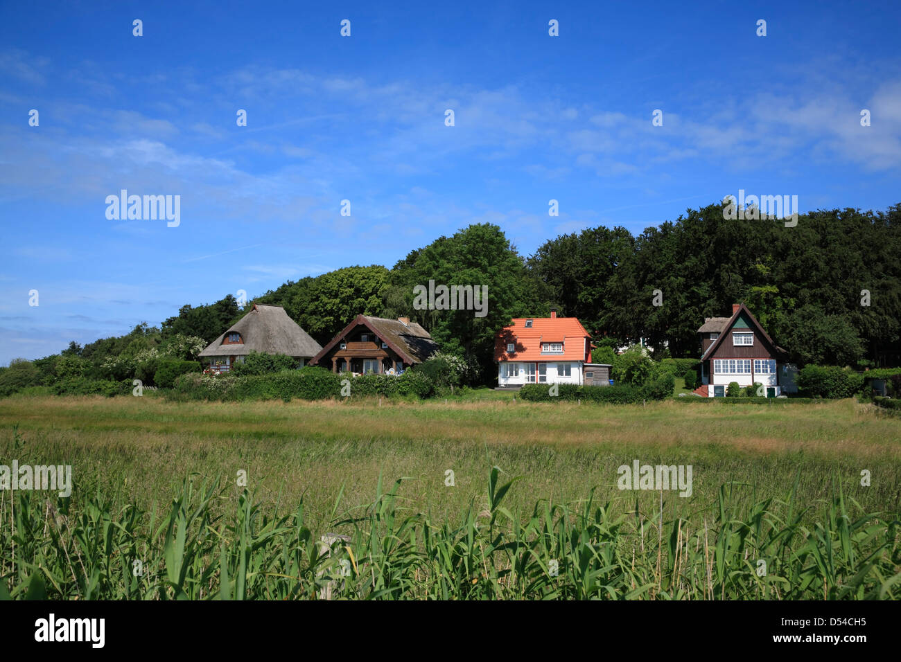 Hiddensee Island, holliday homes in Kloster, Mecklenburg Western Pomerania, Germany - Stock Image