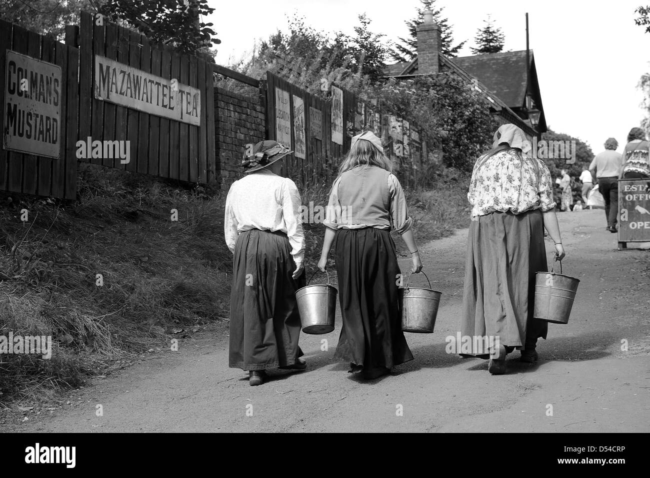 Working women labourers at Blists Hill Museum Uk - Stock Image