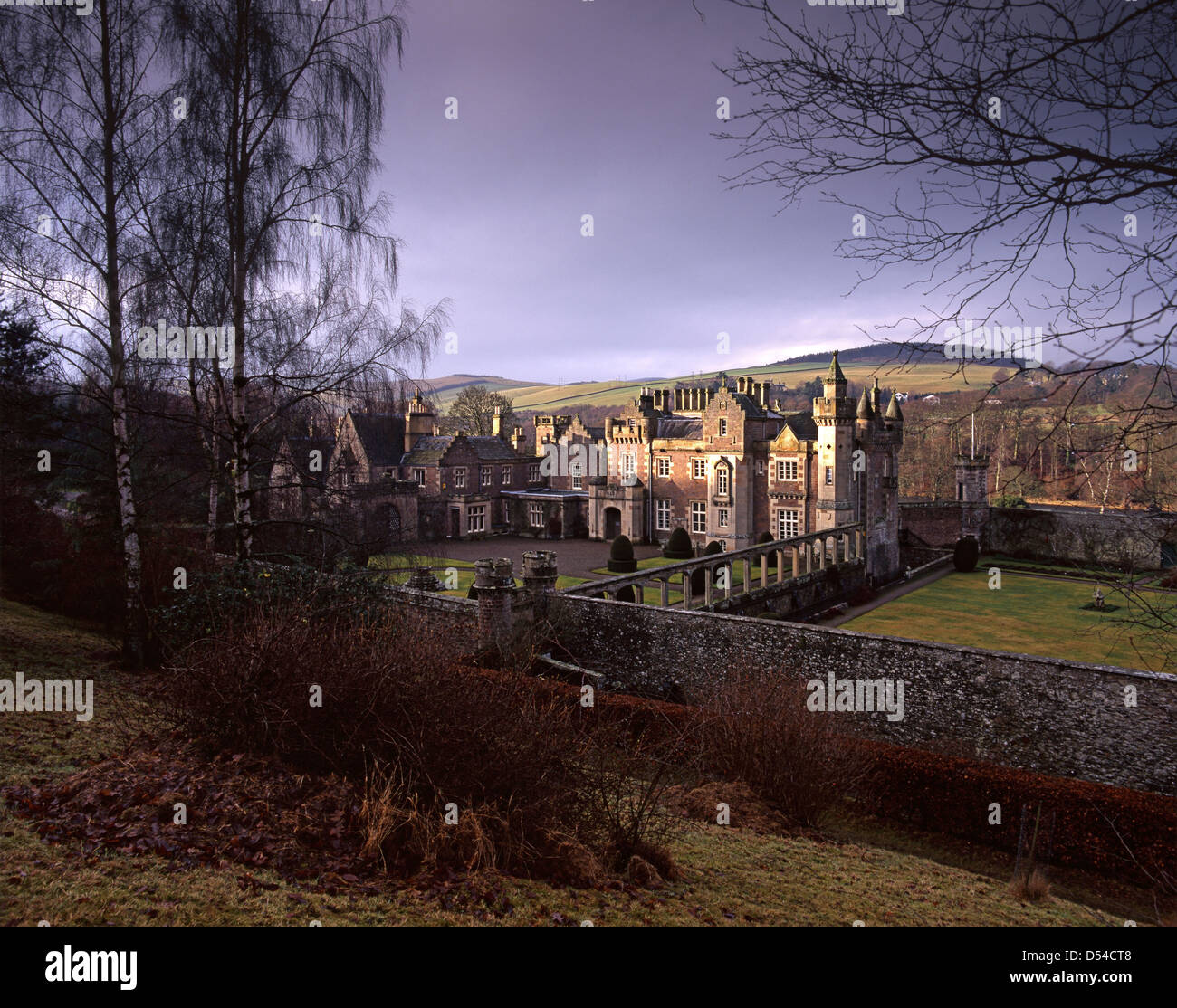 Abbotsford House, formerly the residence of historical novelist and poet, Walter Scott - Stock Image