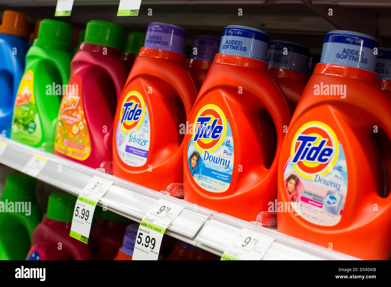 Tide Laundry Detergent On Display At A Walgreens Flagship