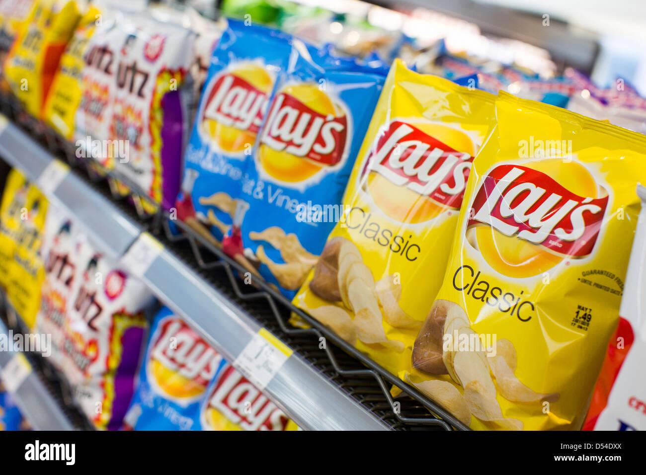 Potato Chips Grocery Stock Photos Potato Chips Grocery Stock