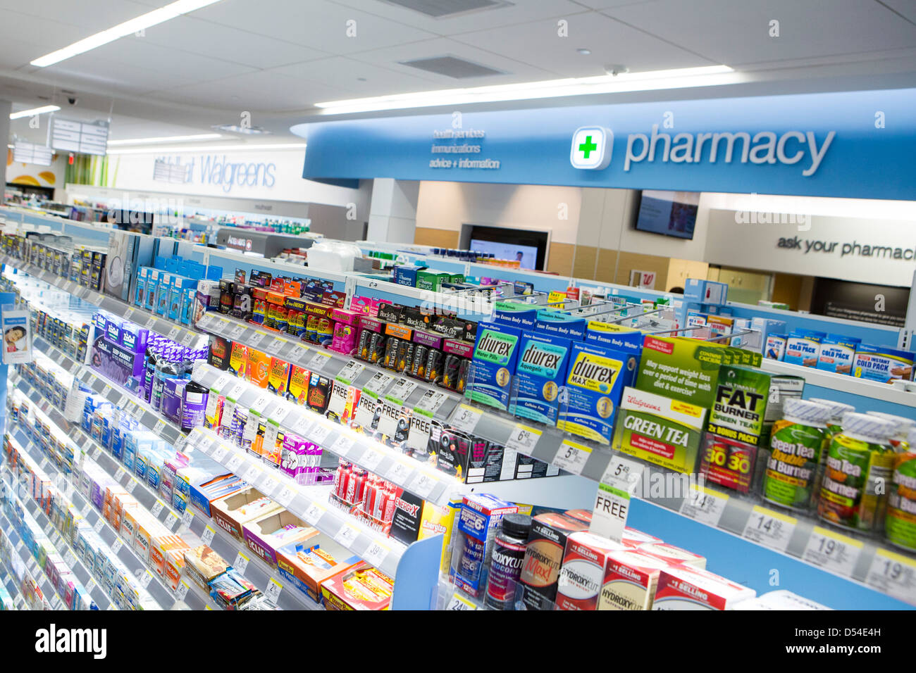 Vitamins And Other Supplements On Display At A Walgreens Flagship