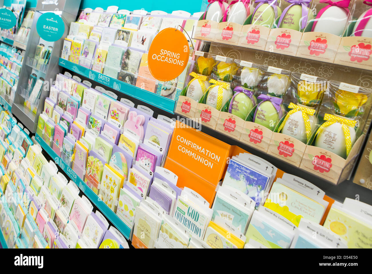 Greeting card display stock photos greeting card display stock hallmark greeting cards on display at a walgreens flagship store stock image m4hsunfo