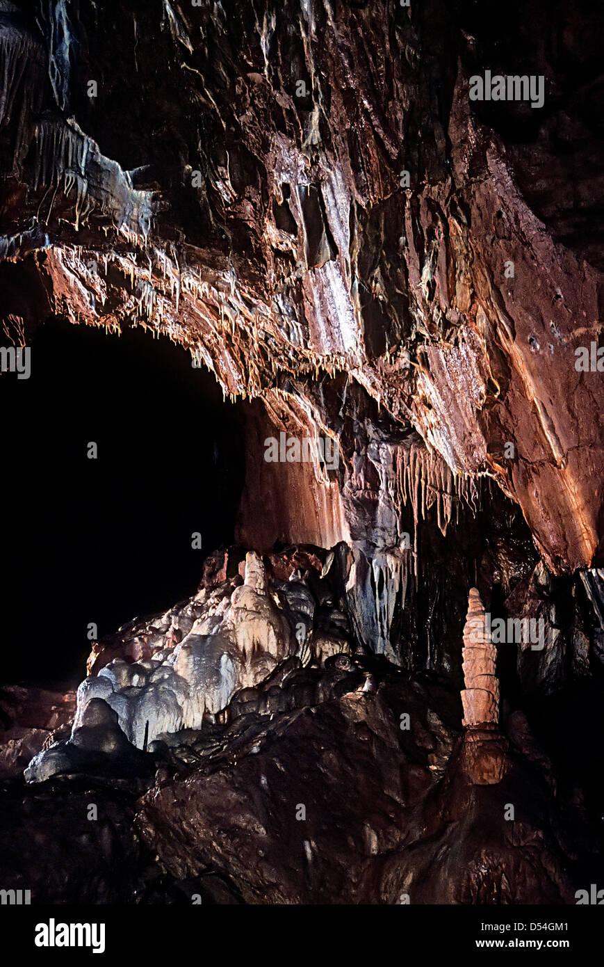 Jeskyne Balcarka, Moravian karst, Czech Republic - Stock Image