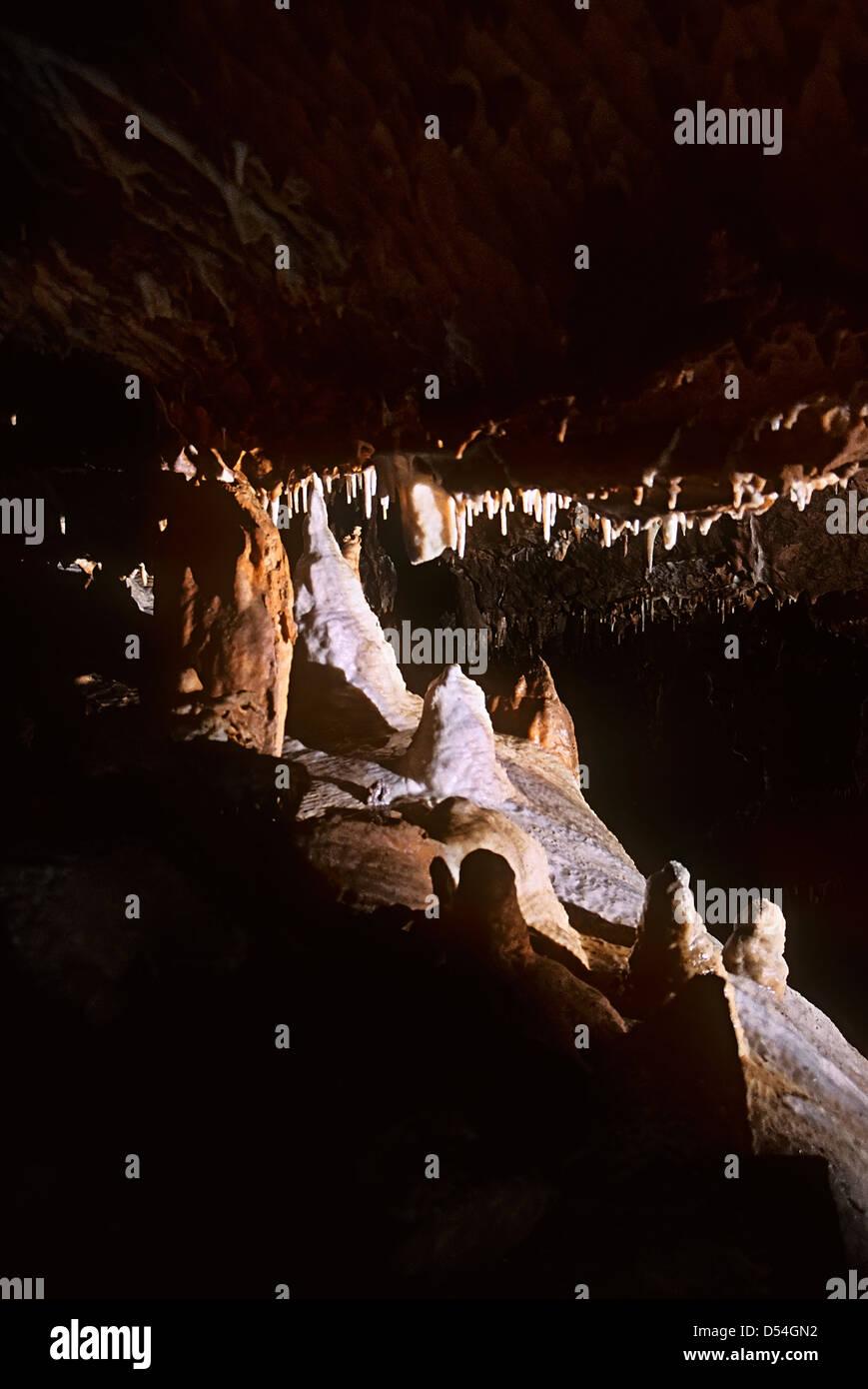 Jeskyne Balcarka cave, Moravian karst, Czech Republic - Stock Image