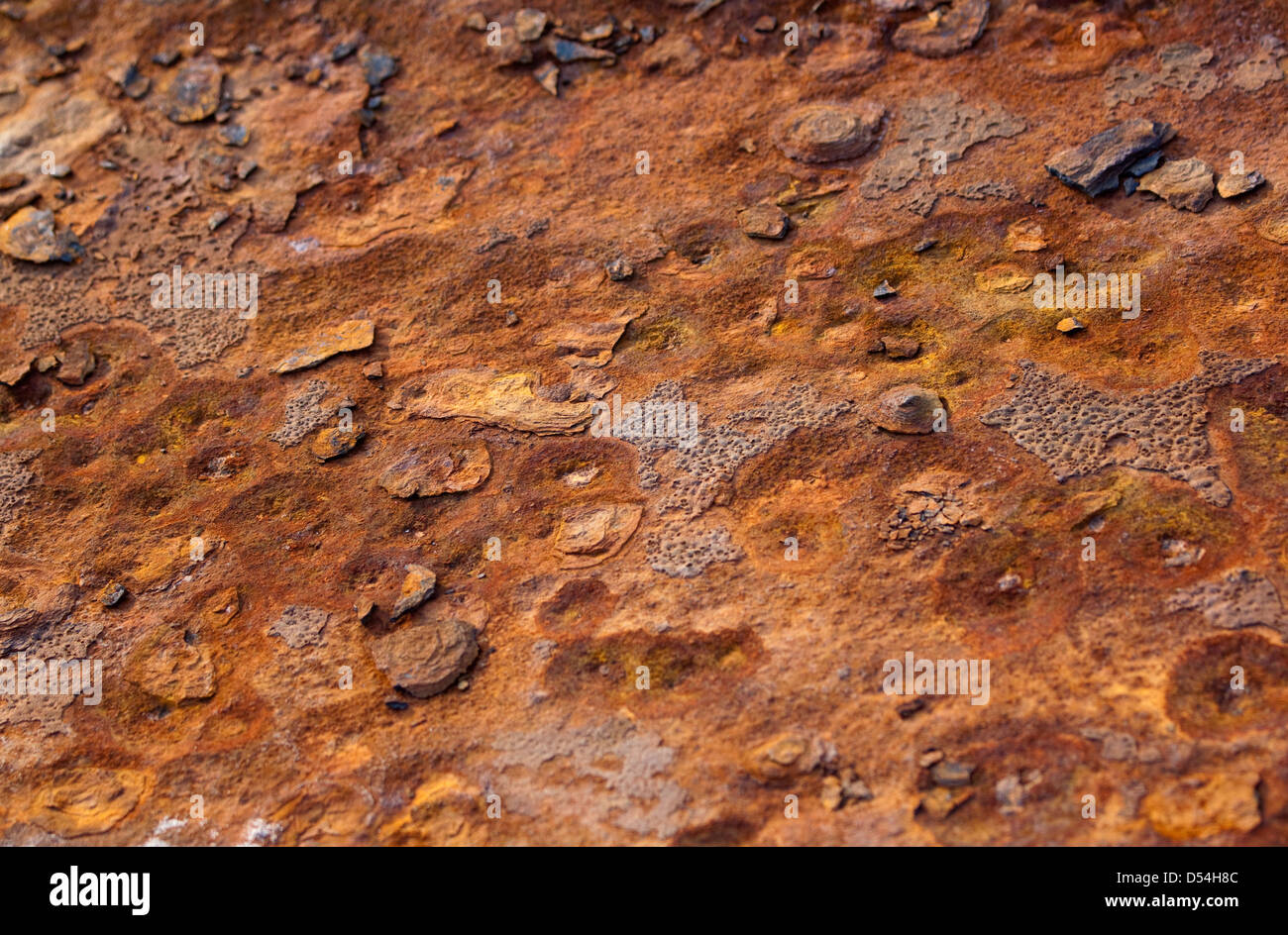 Bolton, Germany, detail of a rusty Eisentraegers - Stock Image
