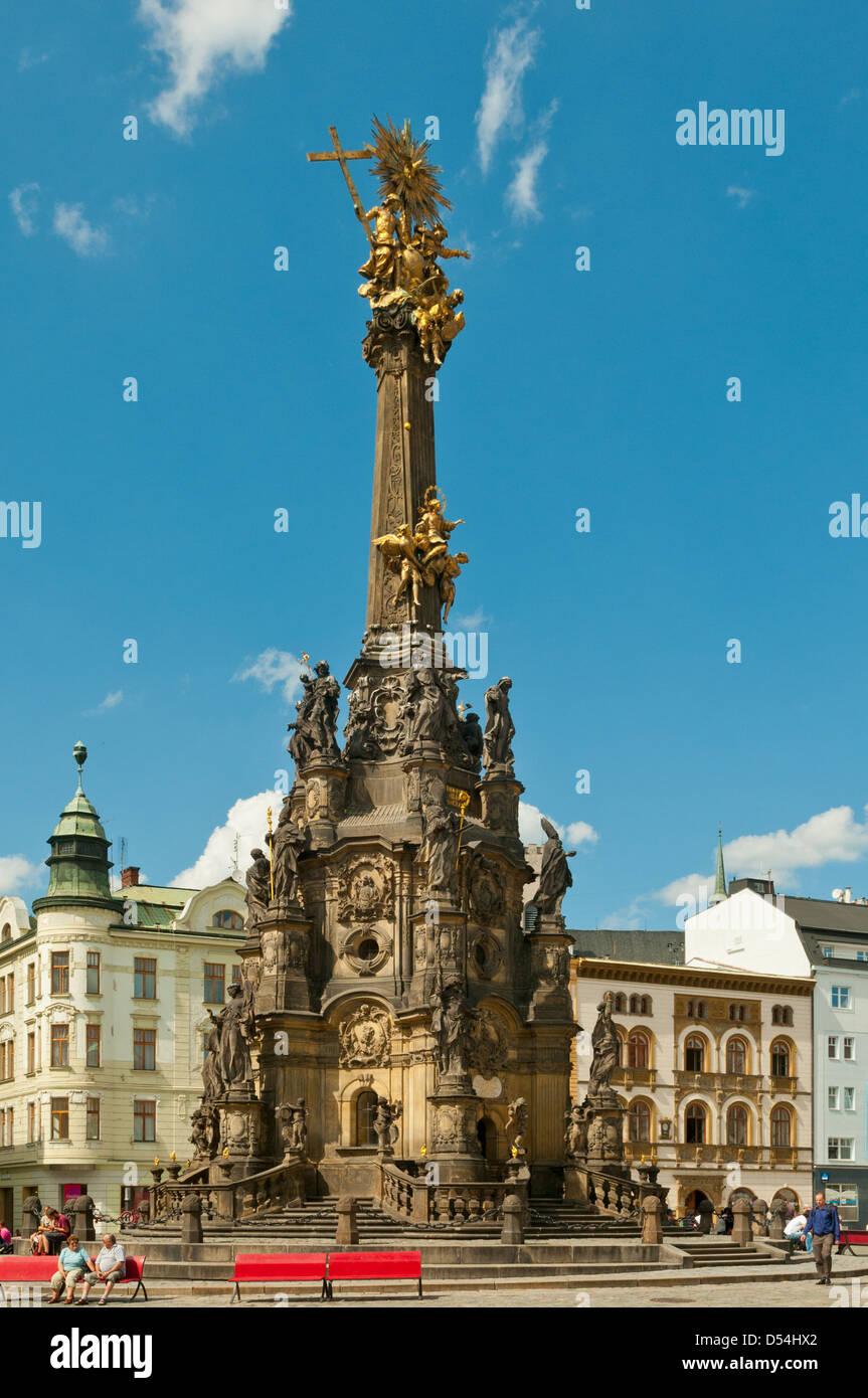 Holy Trinity Column, Olomouc, Central Moravia, Czech Republic - Stock Image