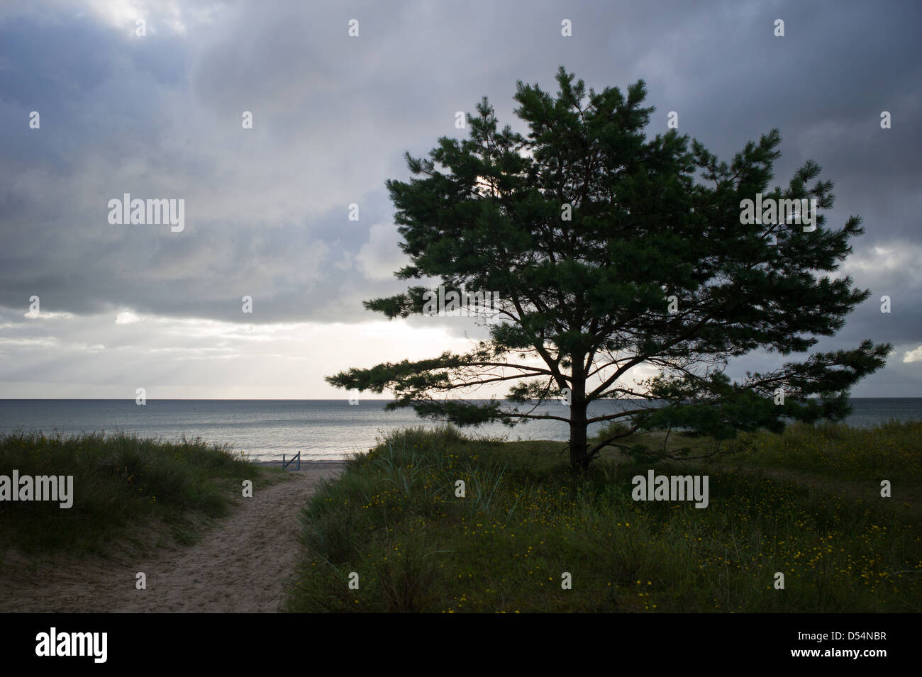 Prora, Germany, cloud cover over the Baltic Sea - Stock Image