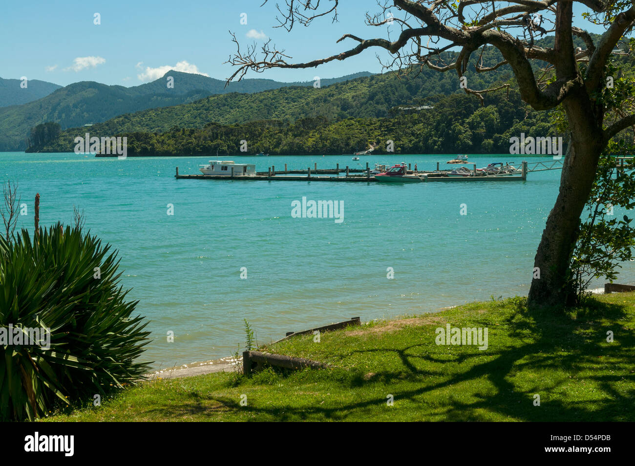 Portage Bay from Portage, Marlborough, New Zealand - Stock Image