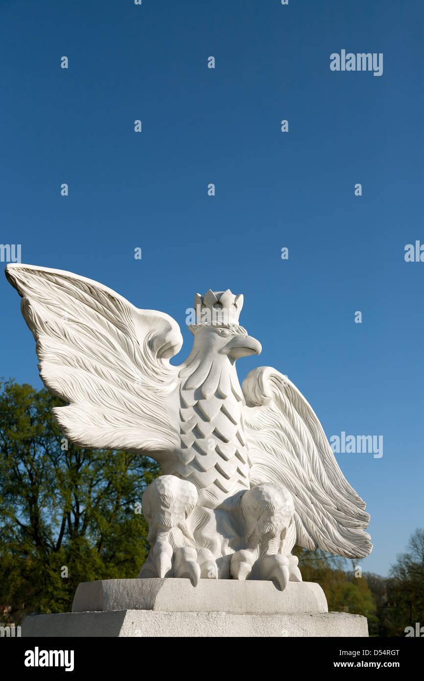 Vandsburg, Poland, memorial commemorates victims of World War II - Stock Image